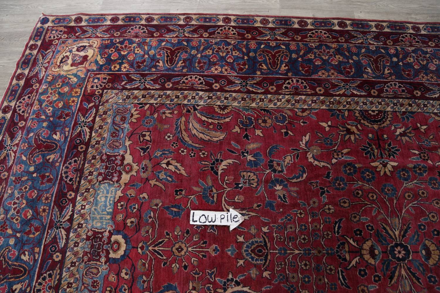 Pre-1900 Antique Floral Sultanabad Persian Hand-Knotted 12x18 Wool Rug image 18