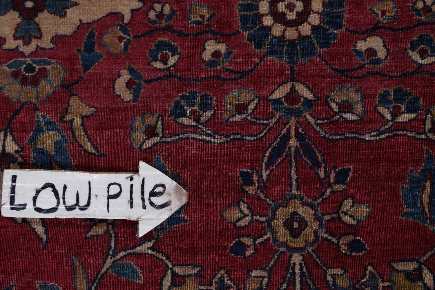 Pre-1900 Antique Floral Sultanabad Persian Hand-Knotted 12x18 Wool Rug image 19