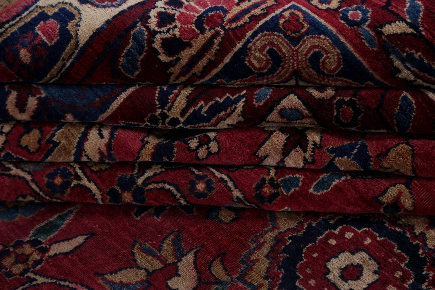 Pre-1900 Antique Floral Sultanabad Persian Hand-Knotted 12x18 Wool Rug image 25