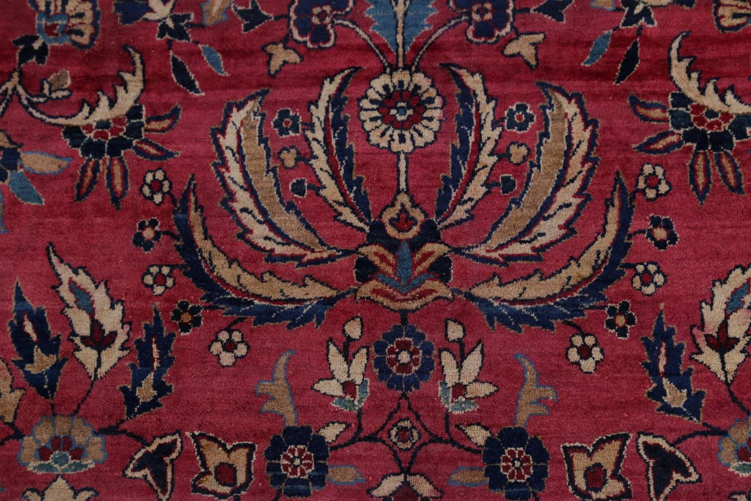 Pre-1900 Antique Floral Sultanabad Persian Hand-Knotted 12x18 Wool Rug image 8