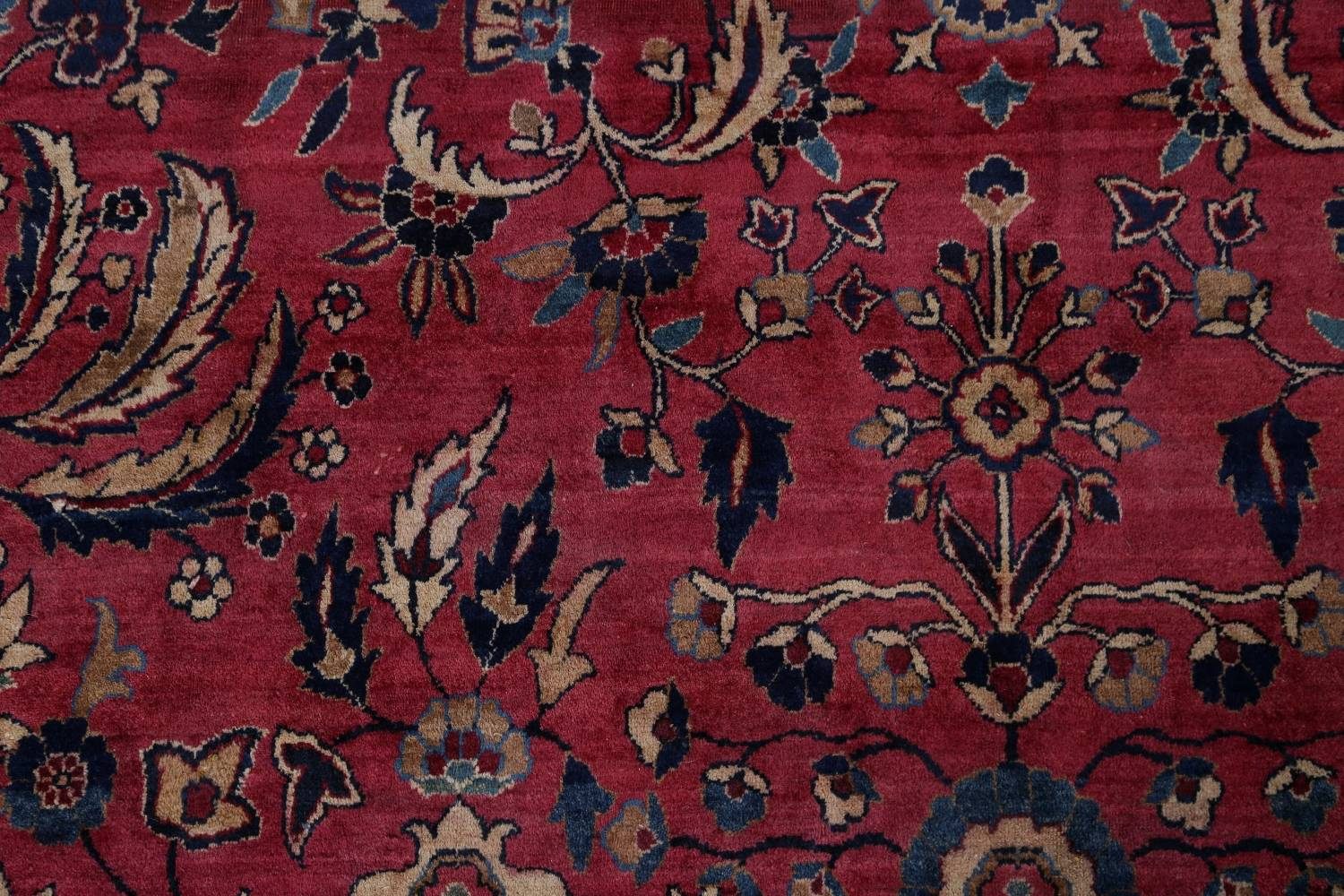 Pre-1900 Antique Floral Sultanabad Persian Hand-Knotted 12x18 Wool Rug image 9