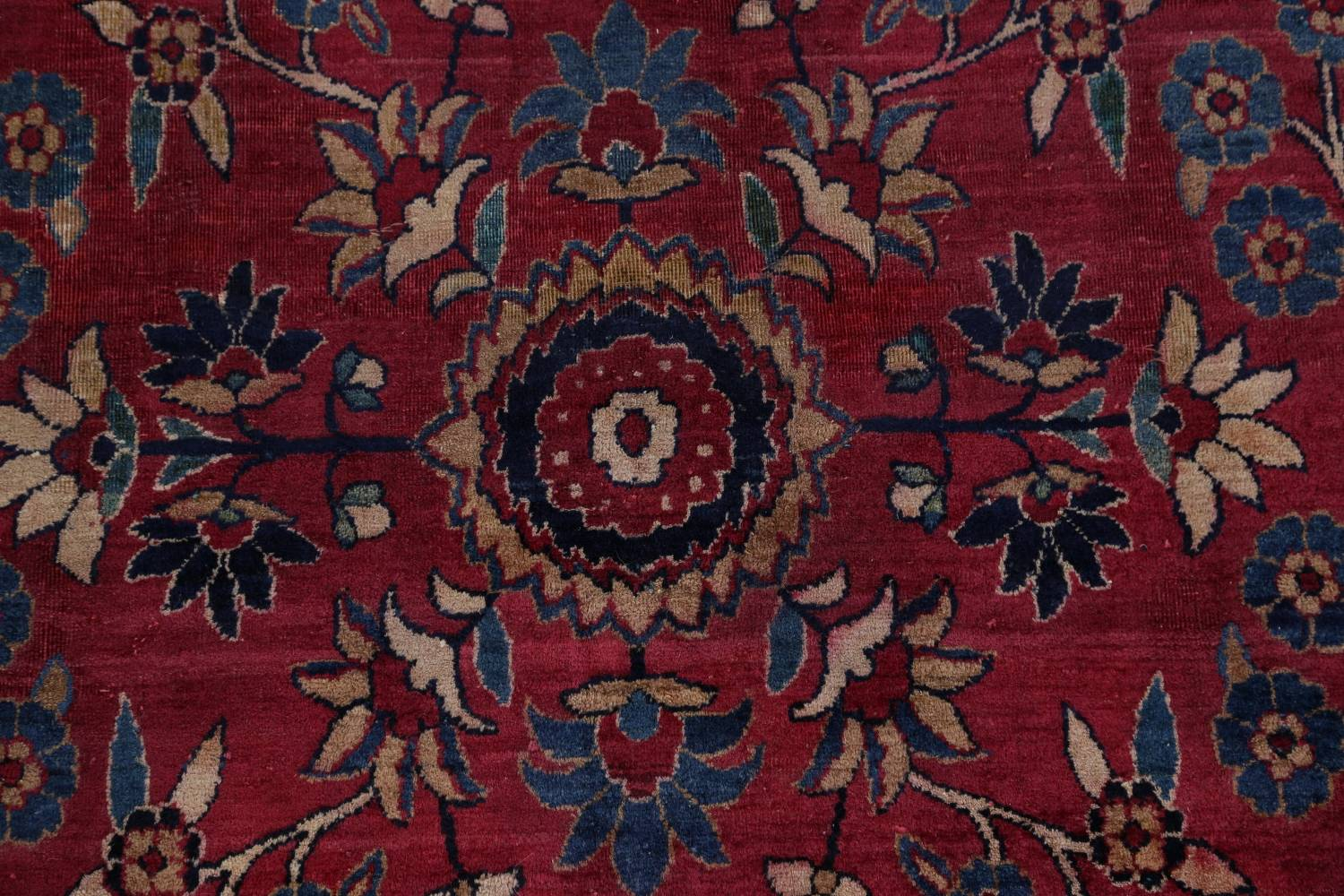 Pre-1900 Antique Floral Sultanabad Persian Hand-Knotted 12x18 Wool Rug image 10