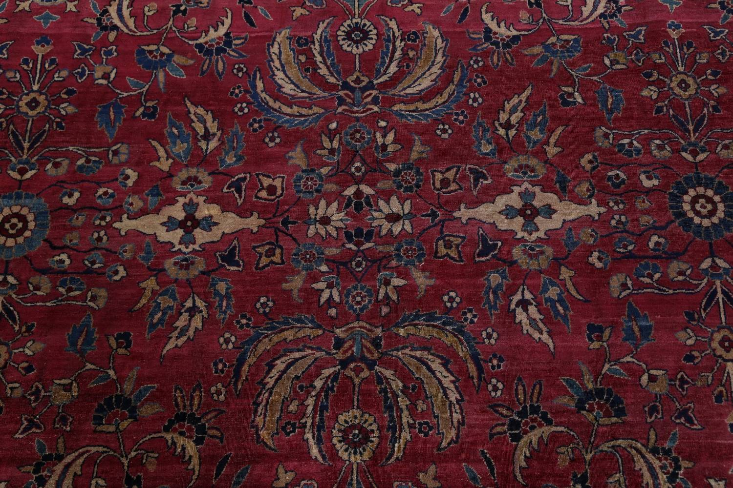 Pre-1900 Antique Floral Sultanabad Persian Hand-Knotted 12x18 Wool Rug image 11