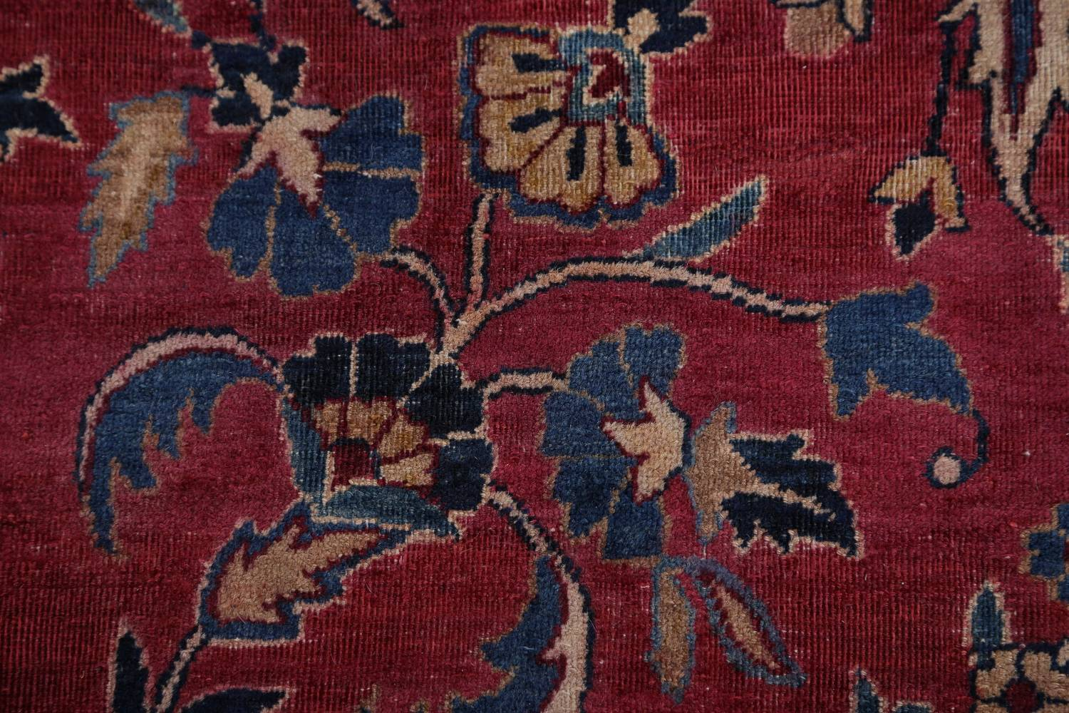 Pre-1900 Antique Floral Sultanabad Persian Hand-Knotted 12x18 Wool Rug image 14