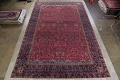 Pre-1900 Antique Floral Sultanabad Persian Hand-Knotted 12x18 Wool Rug image 2