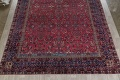 Pre-1900 Antique Floral Sultanabad Persian Hand-Knotted 12x18 Wool Rug image 5