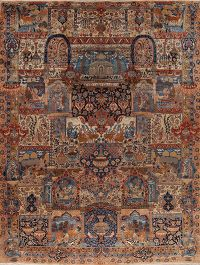 Dynasty Historical Pictorial Kashmar Persian Handmade 10x13 Wool Area Rug