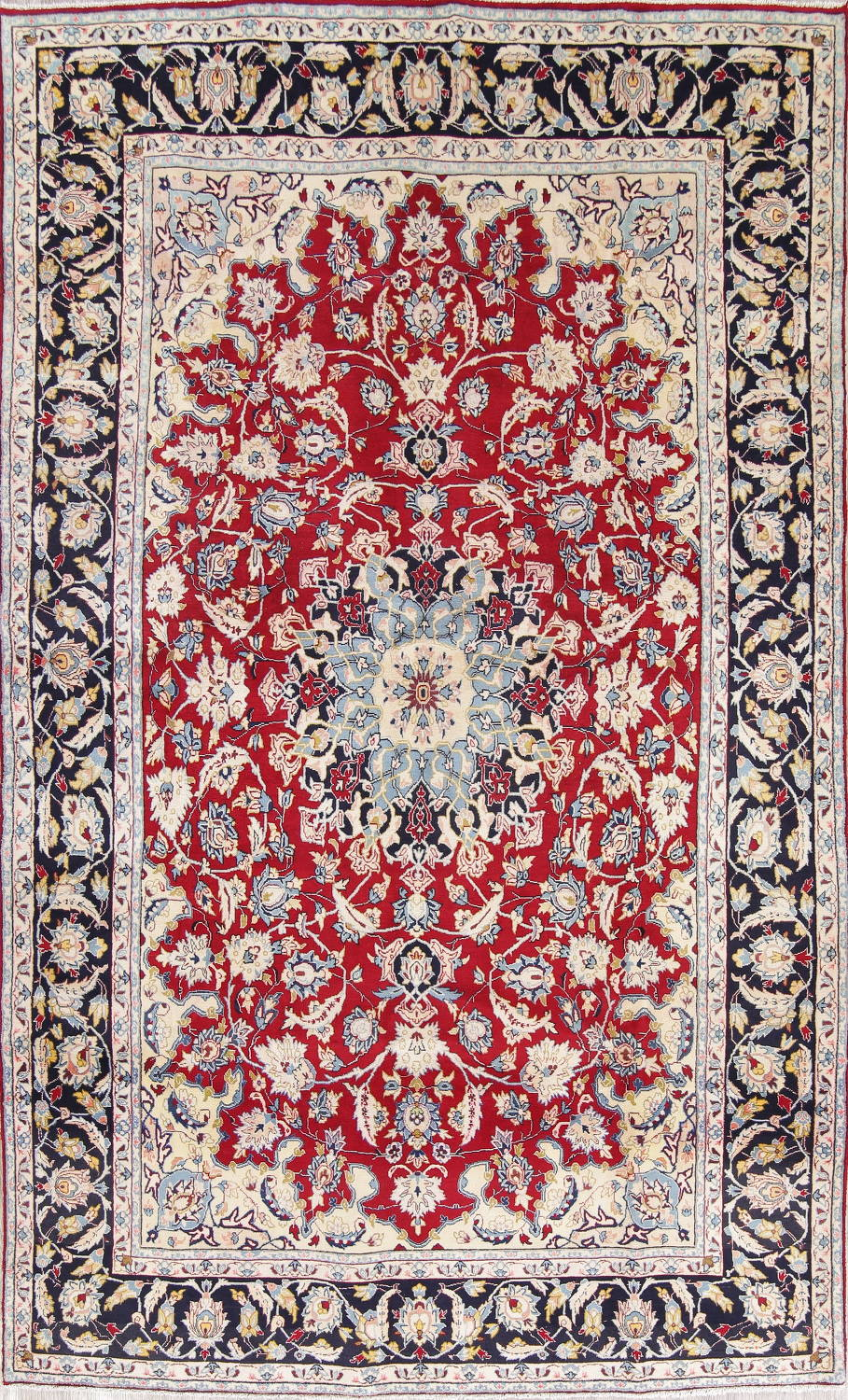 Hand Knotted 7x12 Wool Area Rug