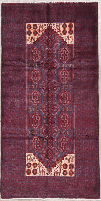 Geometric Balouch Persian Tribal 4x7 Wool Rug