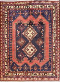 Tribal Geometric Sirjan Persian Hand-Knotted 5x7 Wool Area Rug