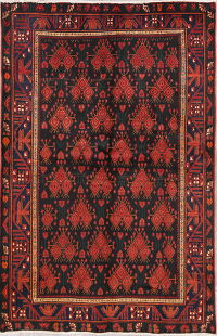Geometric Sirjan Persian Wool Area Rug 5x7