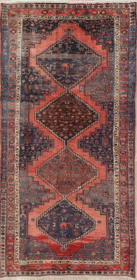 Tribal Zanjan Persian  5x9 Wool Area Rug