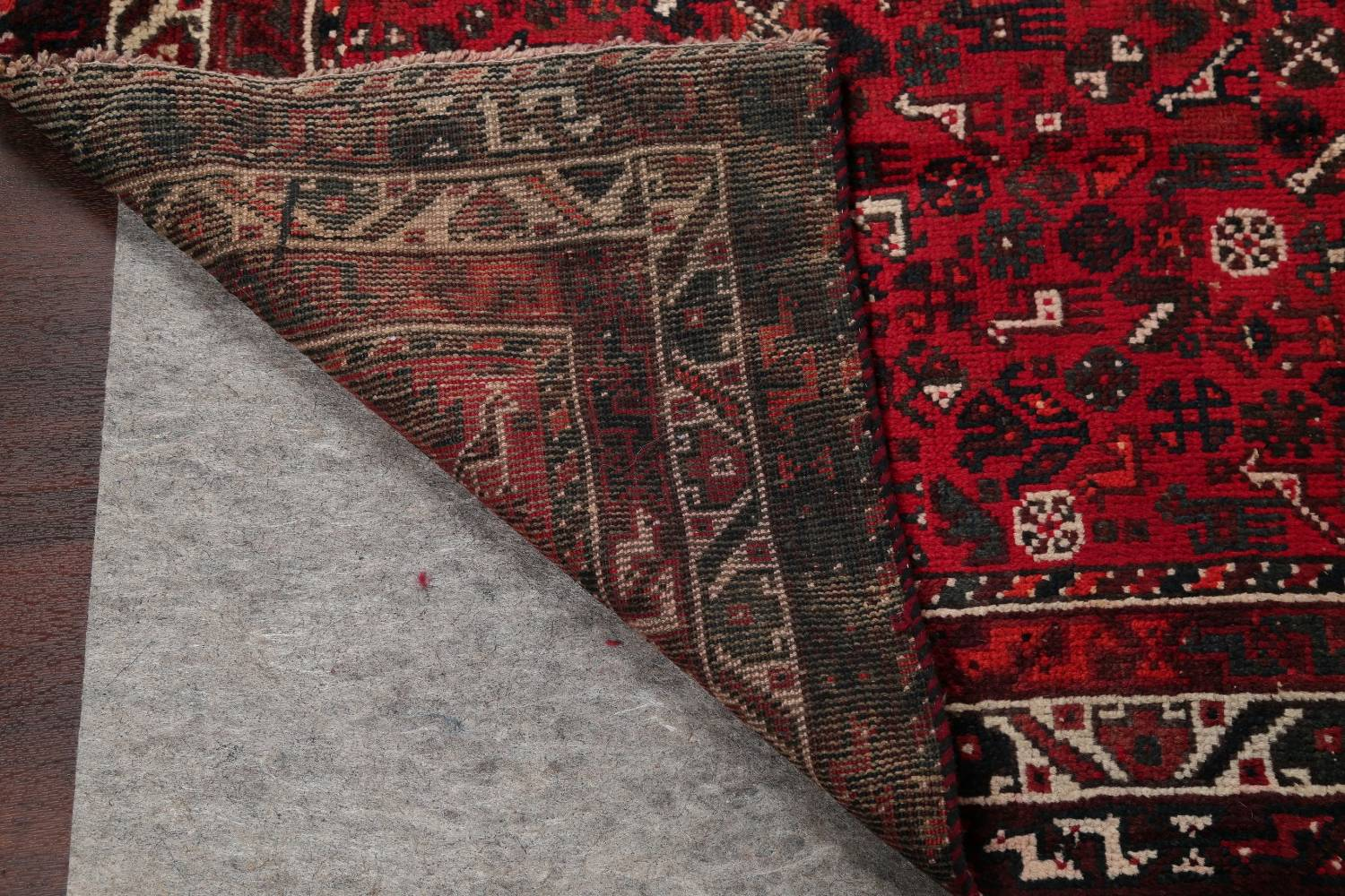 Antique Tribal Shiraz Persian Hand-Knotted 7x10 Wool Area Rug image 20