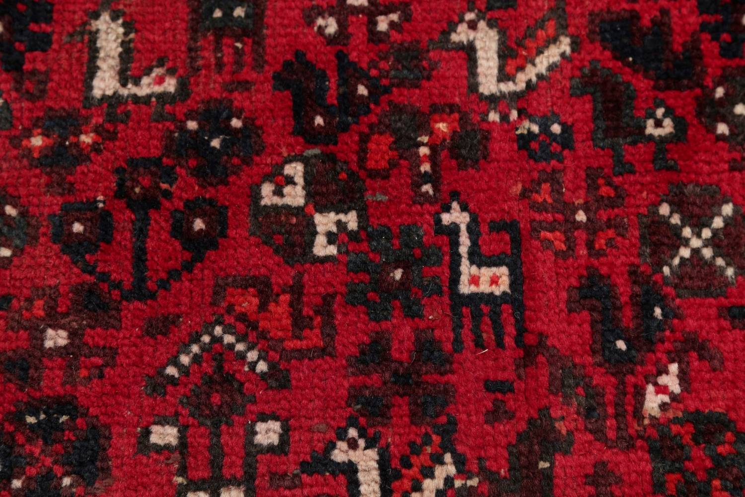 Antique Tribal Shiraz Persian Hand-Knotted 7x10 Wool Area Rug image 7