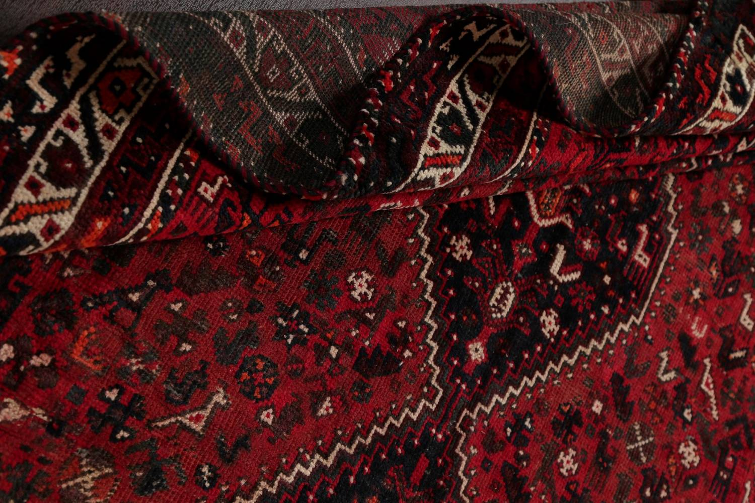 Antique Tribal Shiraz Persian Hand-Knotted 7x10 Wool Area Rug image 17