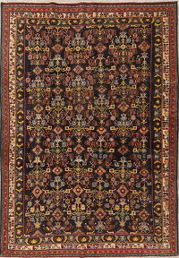 All-Over Antique Kashkoli Persian Hand-Knotted 6x9 Area Rug