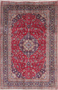 Traditional Floral Kashmar Persian Hand-Knotted 6x10 Wool Area Rug