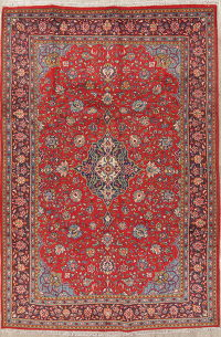 Traditional Floral Mahal Persian Hand-Knotted 7x10 Wool Area Rug