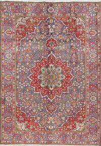 Floral Tabriz Persian Hand-Knotted 7x10 Wool Area Rug
