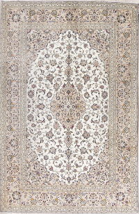 Traditional Floral Kashan Persian Hand-Knotted 6x10 Wool Area Rug