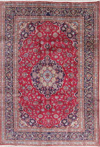Traditional Floral Kashmar Persian Hand-Knotted 6x9 Wool Area Rug