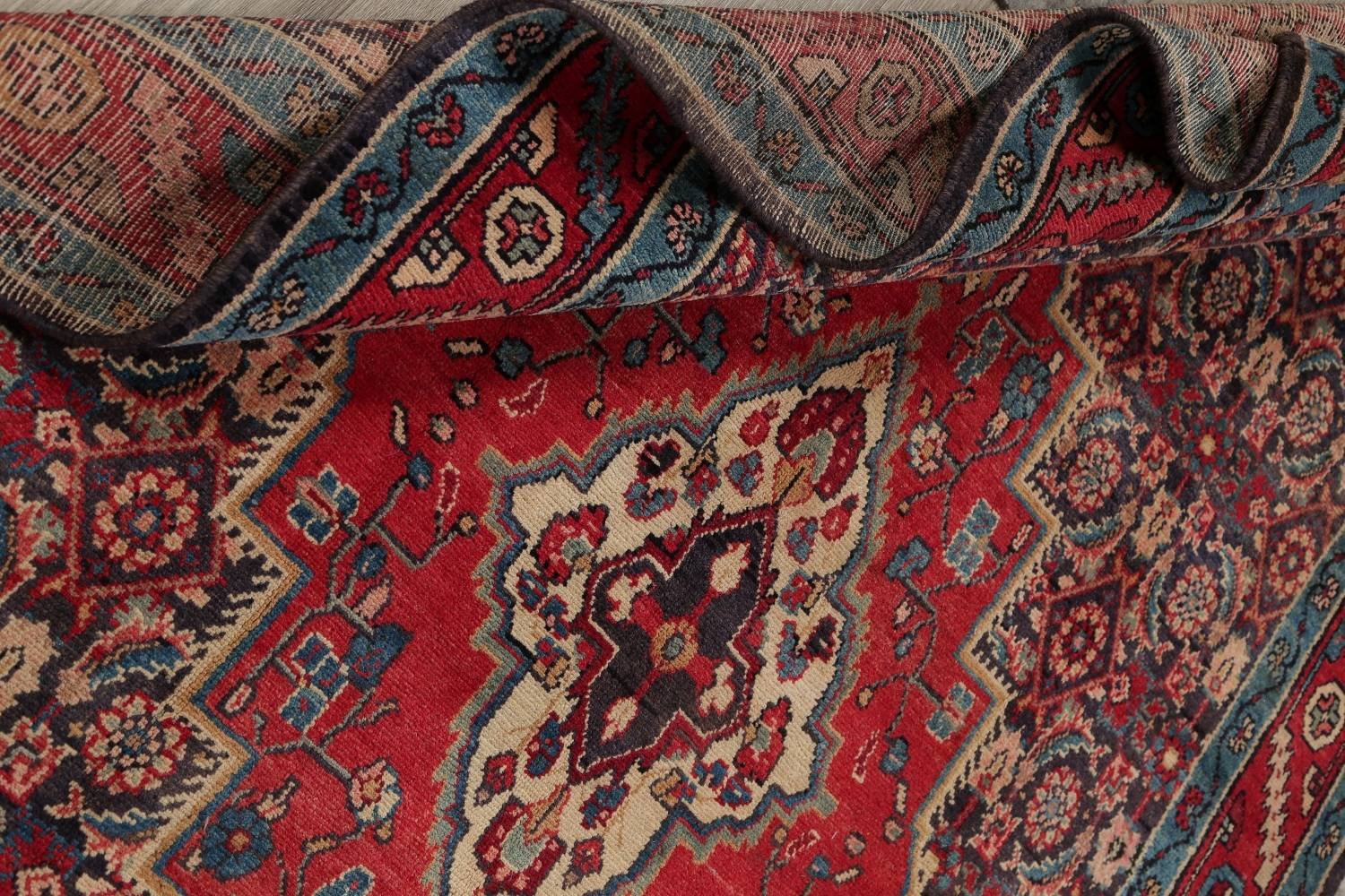 Antique Bakhtiari Persian Hand-Knotted 5x10 Wool Runner Rug image 16
