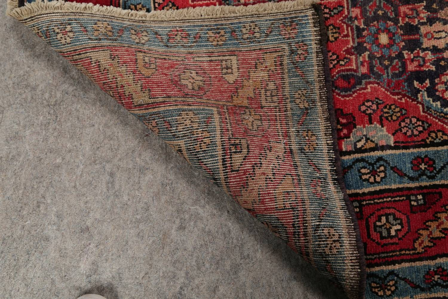 Antique Bakhtiari Persian Hand-Knotted 5x10 Wool Runner Rug image 19