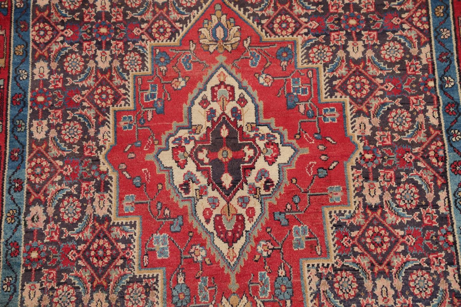 Antique Bakhtiari Persian Hand-Knotted 5x10 Wool Runner Rug image 4