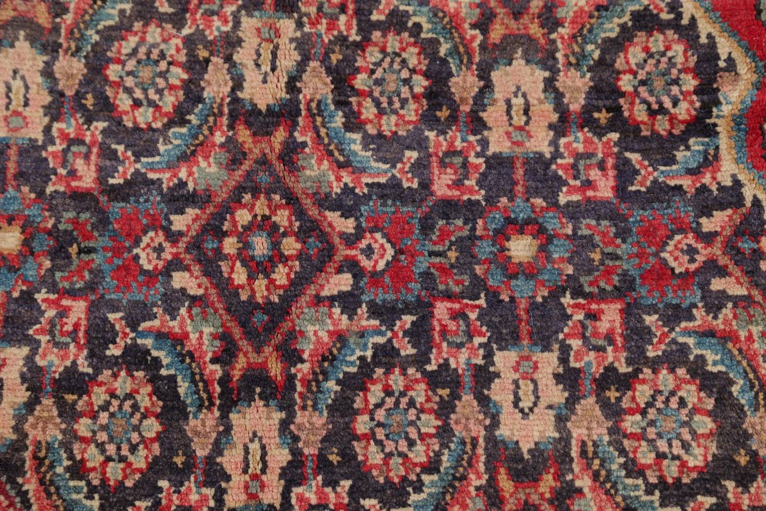 Antique Bakhtiari Persian Hand-Knotted 5x10 Wool Runner Rug image 8