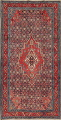 Antique Bakhtiari Persian Hand-Knotted 5x10 Wool Runner Rug image 1