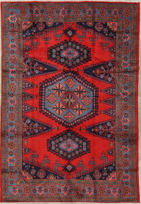 Tribal Geometric Viss Persian Hand-Knotted 7x10 Wool Area Rug