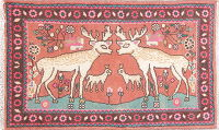 Animal Pictorial Malayer Persian Hand-Knotted 2x3 Wool Rug