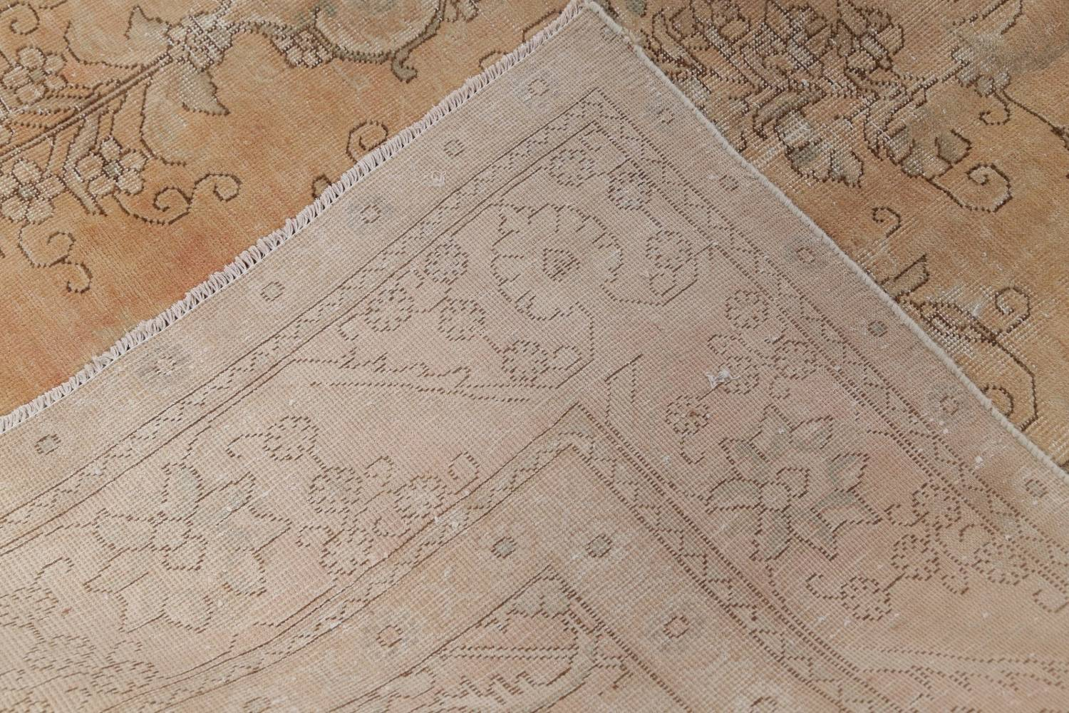 Muted Tabriz Persian Hand-Knotted 9x12 Wool Distressed Area Rug image 24