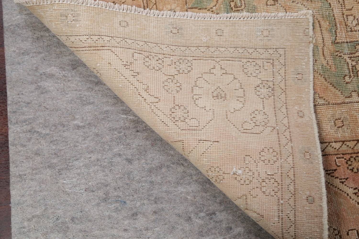 Muted Tabriz Persian Hand-Knotted 9x12 Wool Distressed Area Rug image 23