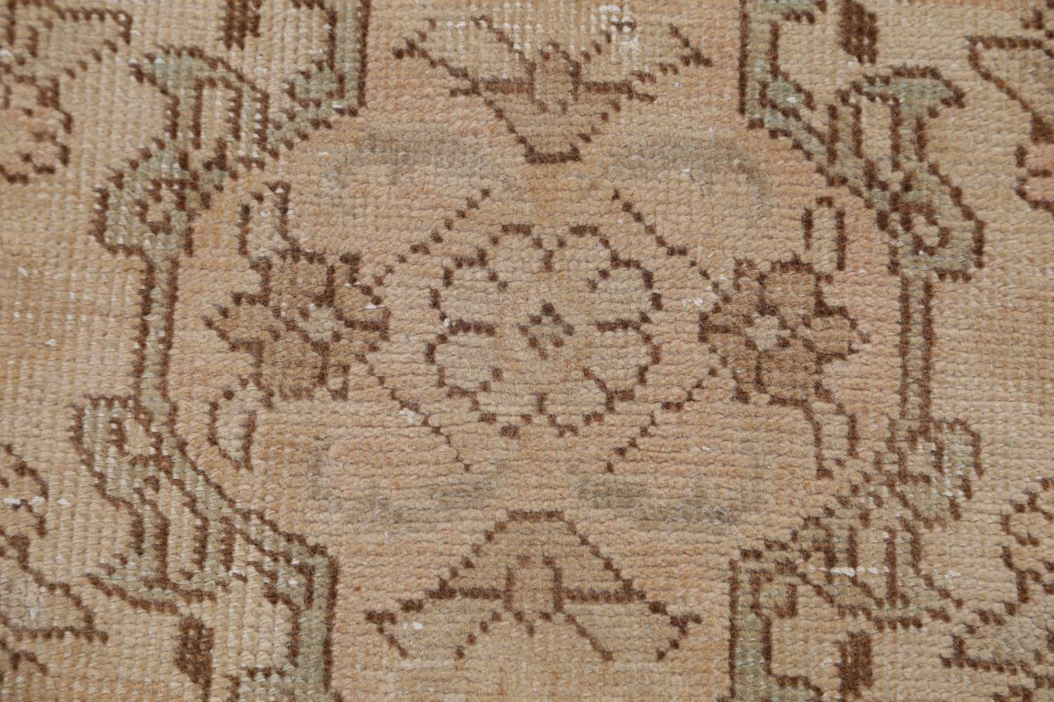 Muted Tabriz Persian Hand-Knotted 9x12 Wool Distressed Area Rug image 11