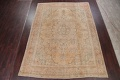 Muted Tabriz Persian Hand-Knotted 9x12 Wool Distressed Area Rug image 2