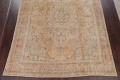 Muted Tabriz Persian Hand-Knotted 9x12 Wool Distressed Area Rug image 5