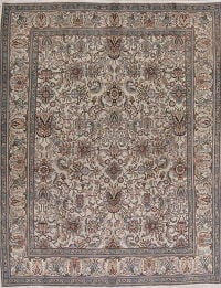 Muted Color All-Over Tabriz Persian Hand-Knotted 8x11 Wool Area Rug
