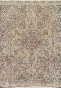 Floral Tabriz Persian Hand-Knotted 8x11 Wool Area Rug