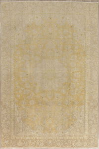 Muted Tabriz Persian 7x11 Wool Distressed Area Rug