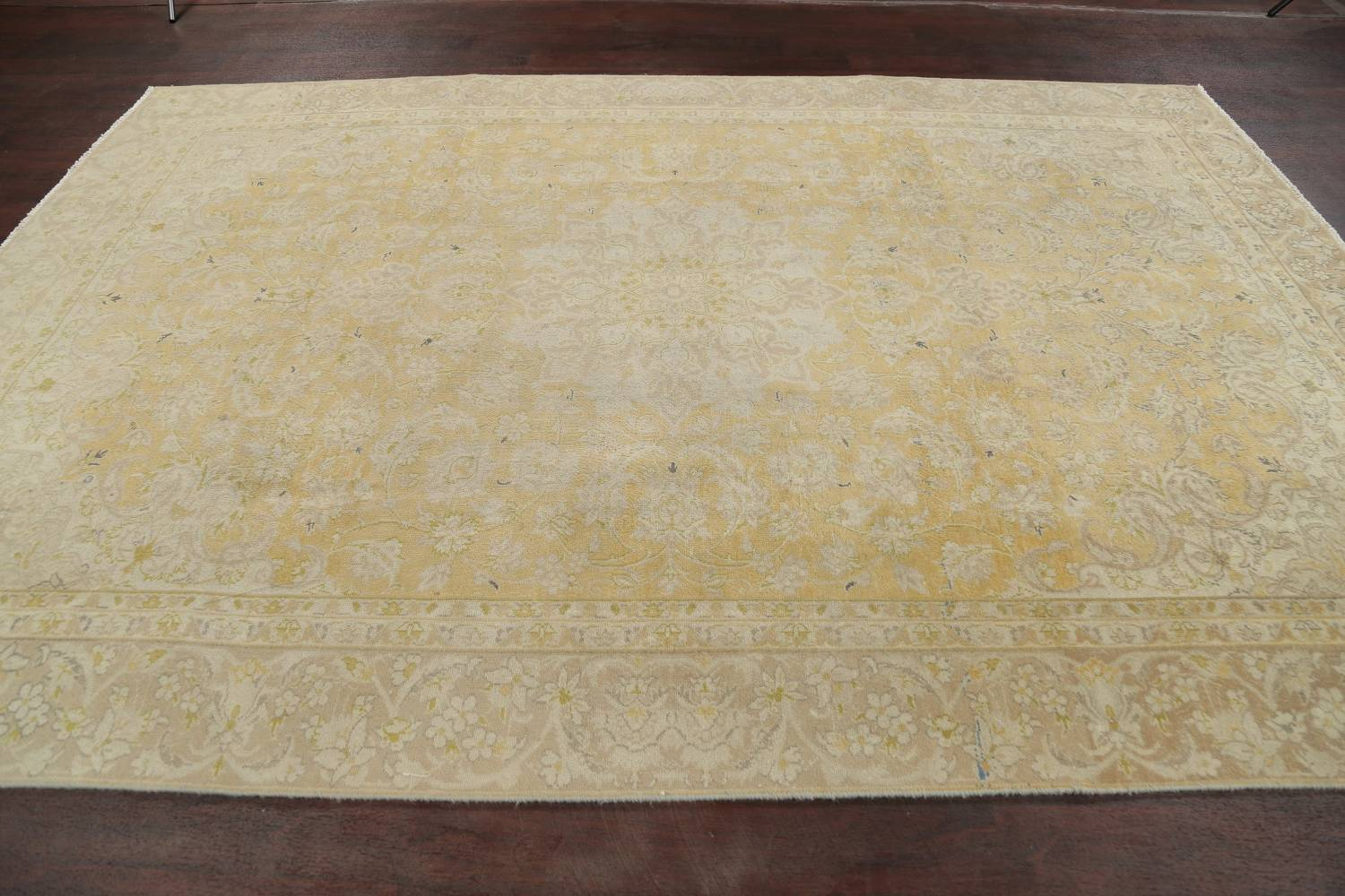 Muted Tabriz Distressed Persian Area Rug Wool 7x11 image 18