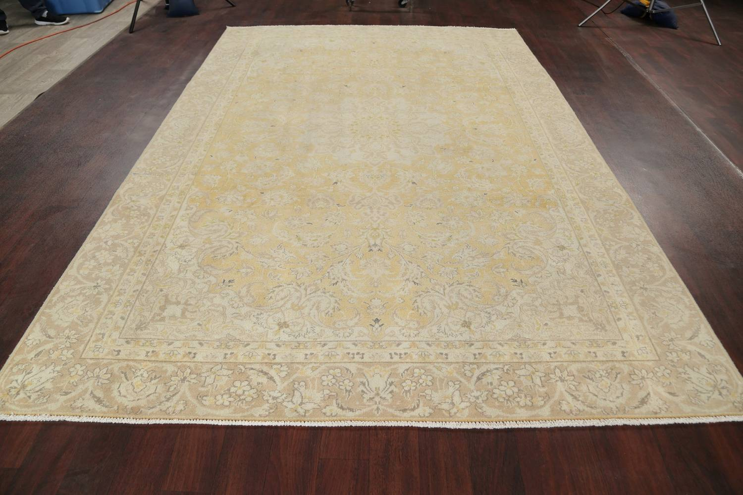 Muted Tabriz Distressed Persian Area Rug Wool 7x11 image 19