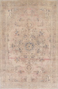 Over-dye Antique Muted Tabriz Persian Handmade 10x15 Wool Distressed Rug