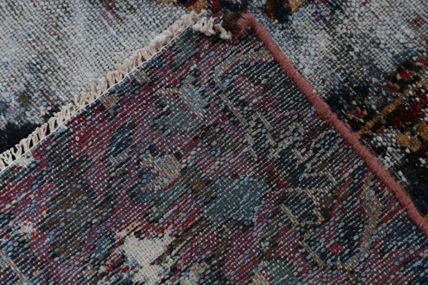 Muted Bakhtiari Persian Hand-Knotted 8x10 Wool Distressed Area Rug image 21