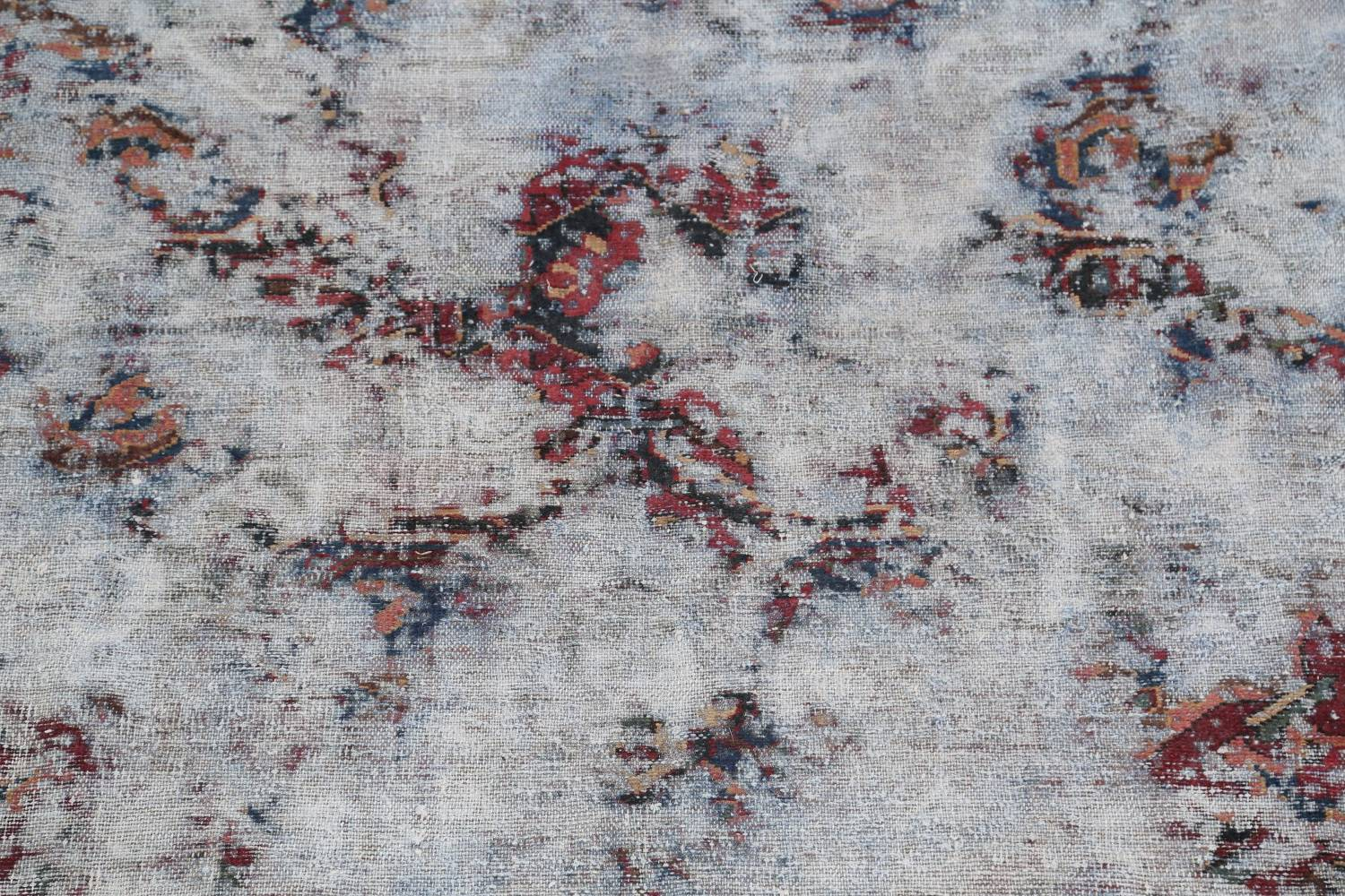 Muted Bakhtiari Persian Hand-Knotted 8x10 Wool Distressed Area Rug image 4