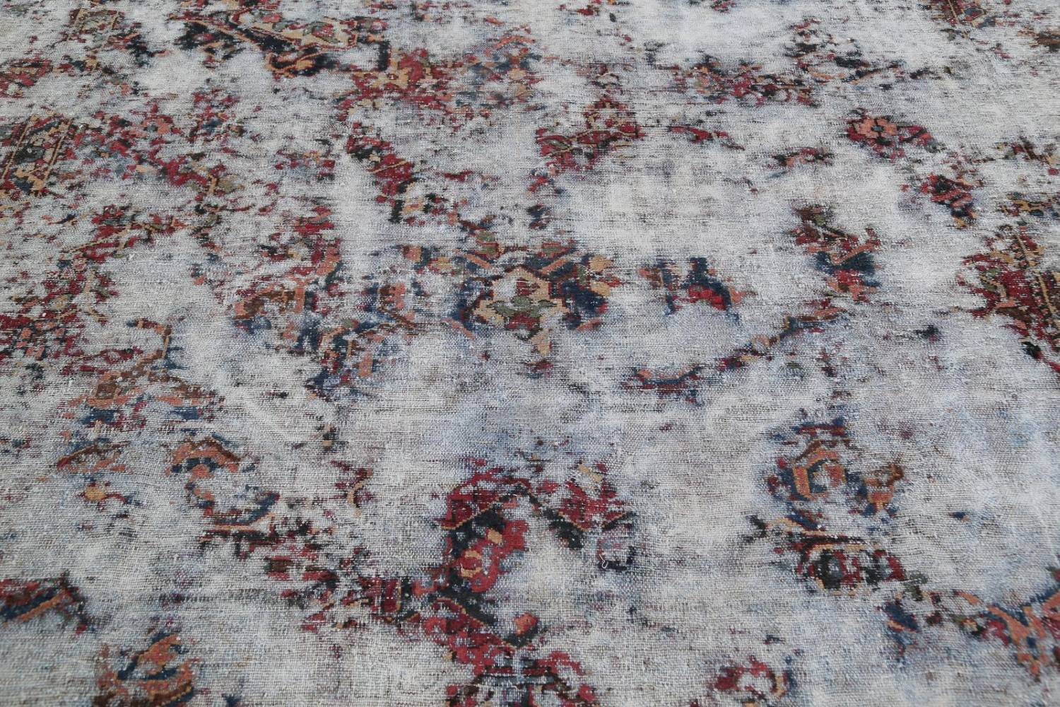 Muted Bakhtiari Persian Hand-Knotted 8x10 Wool Distressed Area Rug image 11