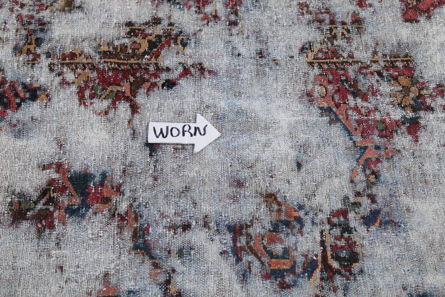 Muted Bakhtiari Persian Hand-Knotted 8x10 Wool Distressed Area Rug image 10