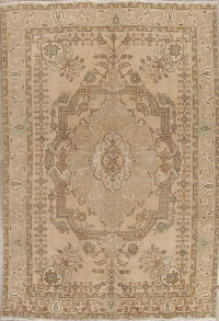 Muted Tabriz Persian Hand-Knotted 6x9 Wool Area Rug