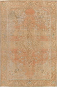 Muted Tabriz Persian Distressed 6x10 Wool Area Rug