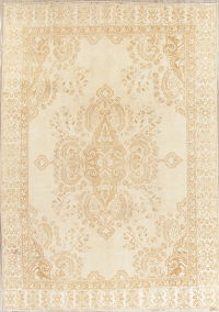 Muted Floral Ferdos Persian Hand-Knotted 8x11 Wool Area Rug